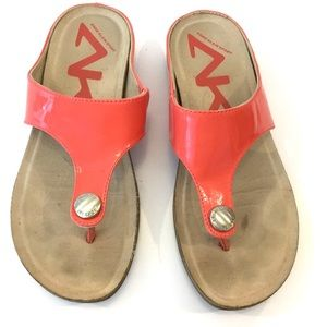 AK Anne Klein Sport Slip On Flip Flop Sandals